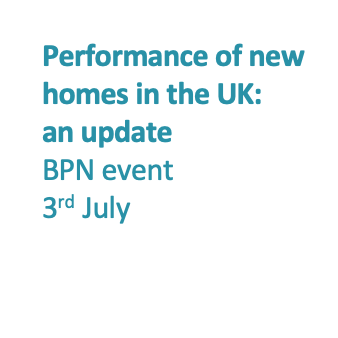 New housing event - policy changes - Hywel Davies, CIBSE, BPN