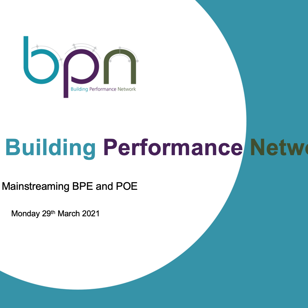 Presentations from Mainstreaming BPE and POE now available
