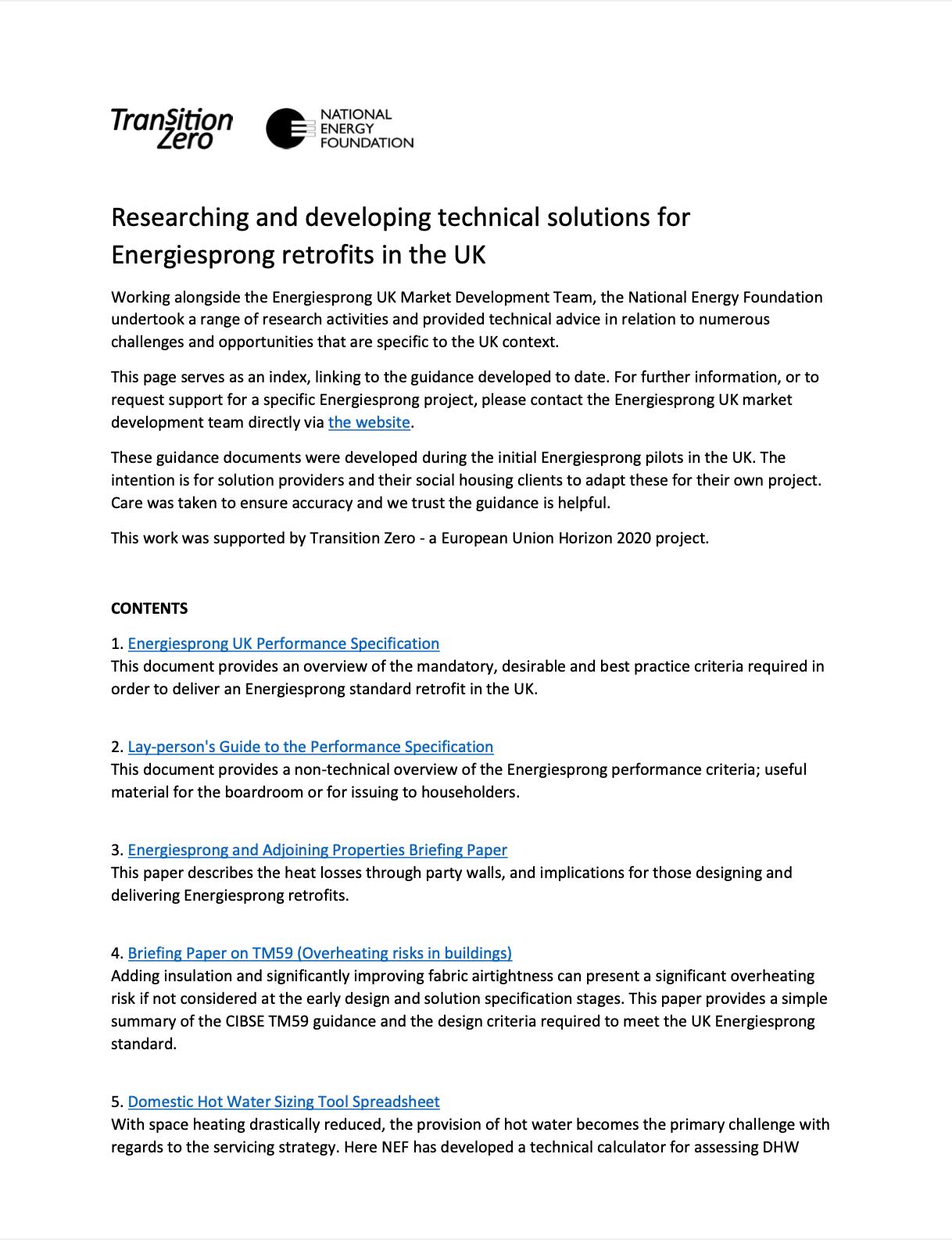 EnergieSprong / NEF monitoring protocols